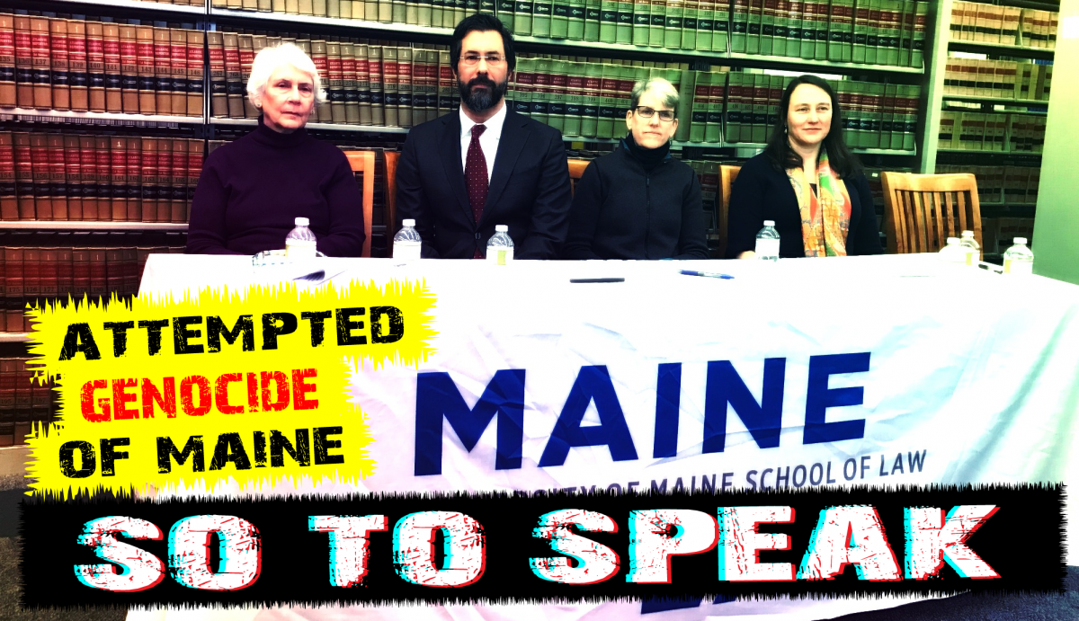 The ACLU of Maine is actively engaged in the agenda of white genocide